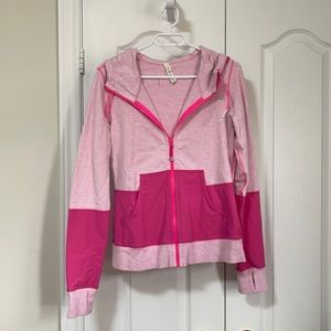 EUC lulu pink scuba hoodie sz 8